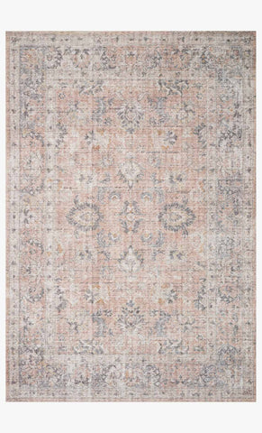 Skye Rug in Blush & Grey by Loloi