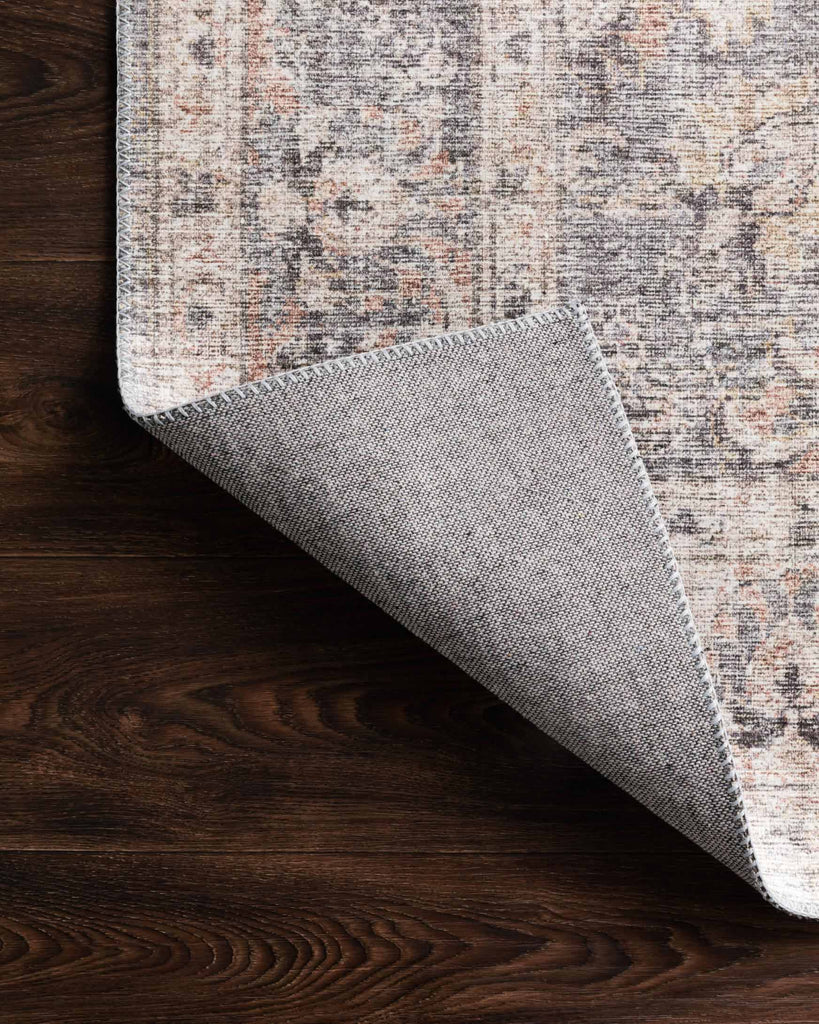 Skye Rug in Grey & Apricot by Loloi