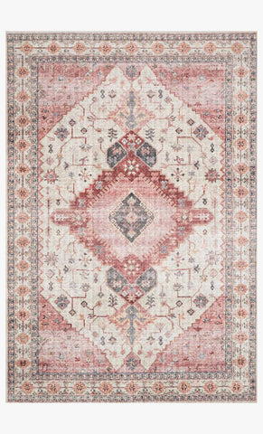 Skye Rug in Ivory & Berry by Loloi