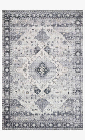 Skye Rug in Silver & Grey by Loloi