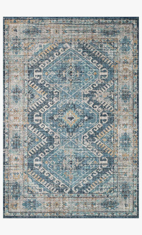 Skye Rug in Denim & Natural by Loloi