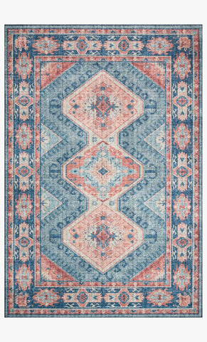 Skye Rug in Turquoise & Terracotta by Loloi