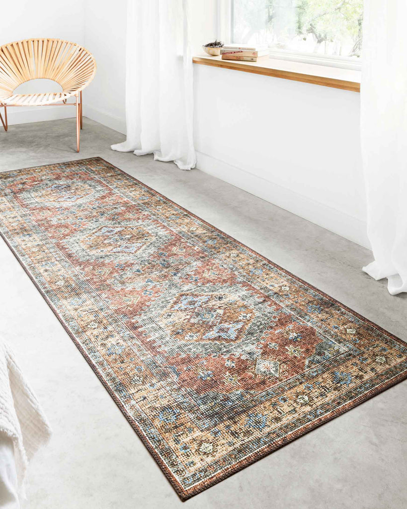 Skye Rug in Terracotta & Sky by Loloi