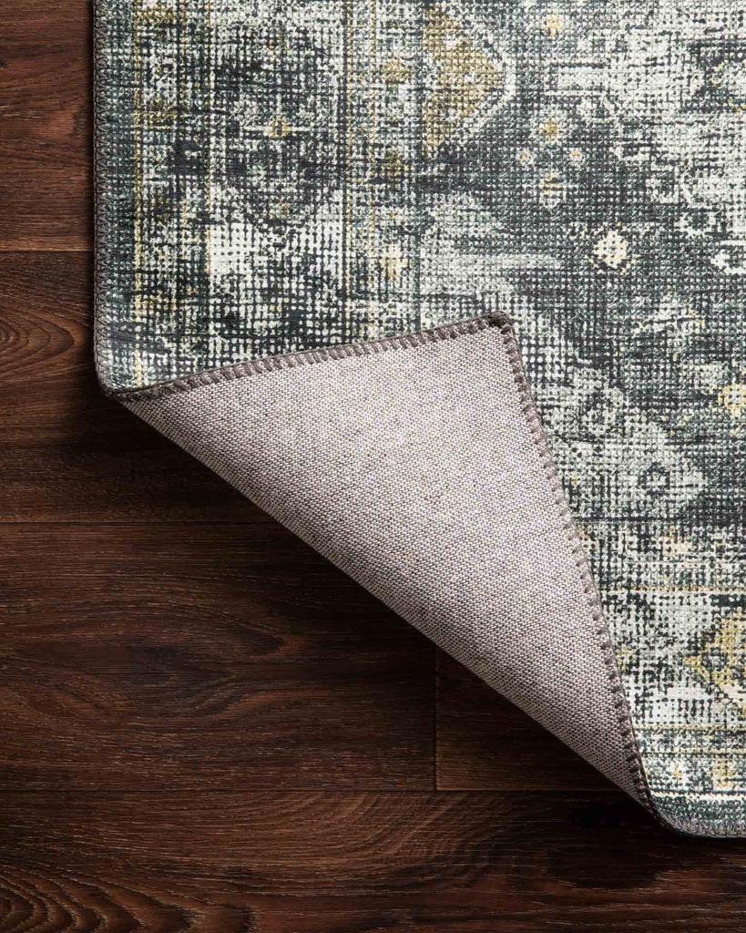 Skye Rug in Graphite & Silver by Loloi