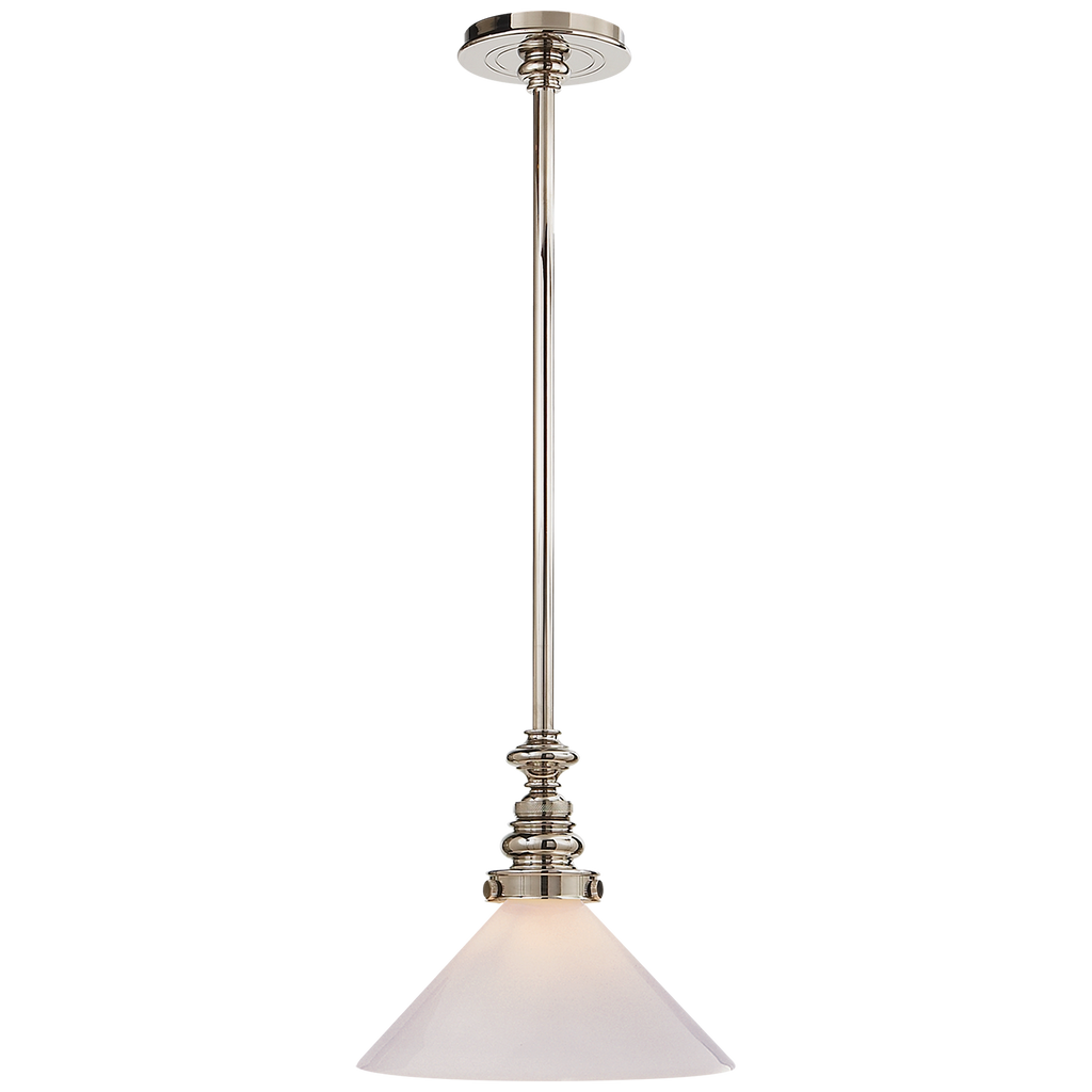 Boston Pendant with Slant Shade by Chapman & Myers