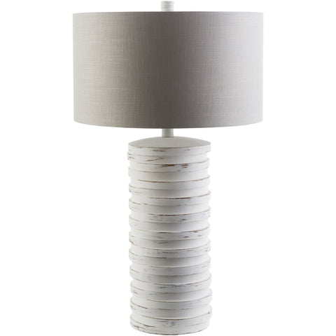 Sulak SLK-404 Table Lamp in Ivory & Light Gray by Surya