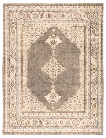 Farwell Medallion Rug in Moon Rock & Parchment design by Jaipur