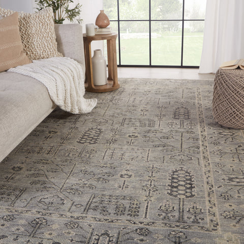 Ginerva Hand-Knotted Oriental Grey Rug by Jaipur Living
