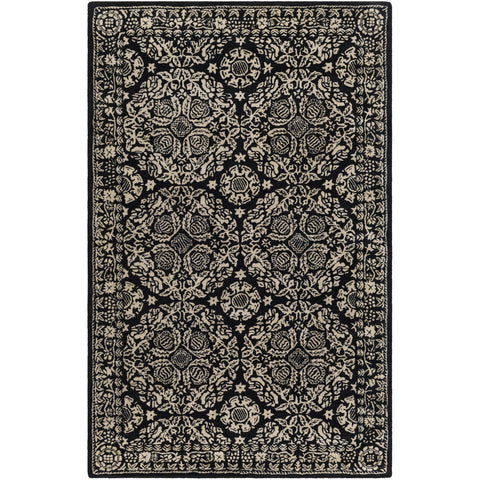 Smithsonian SMI-2167 Hand Tufted Rug in Black & Khaki by Surya