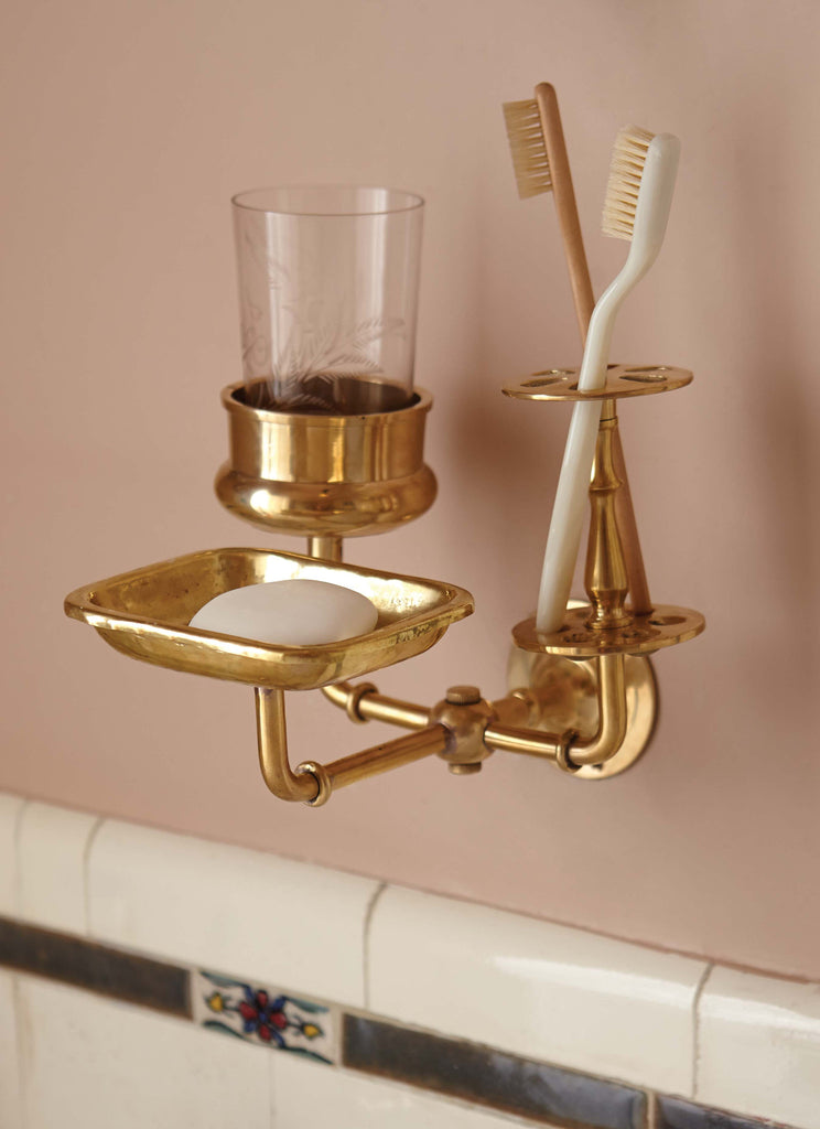 Solid Brass Bath Trio Wall Hanger