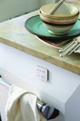 Clean/Dirty Dishwasher Magnet in Solid Brass design by Sir/Madam