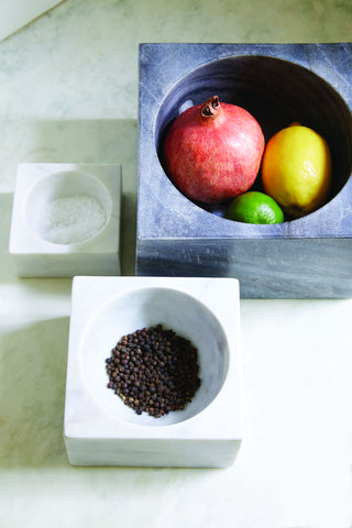 Marble Modernist Bowls in White in Various Sizes