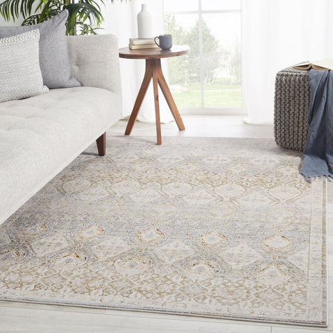 Hakeem Oriental Gray & Gold Rug by Jaipur Living