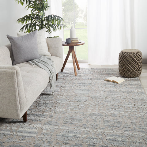 Pearson Handmade Floral Gray & Taupe Rug