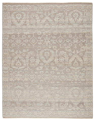 Ayres Handmade Floral Taupe & Gray Rug