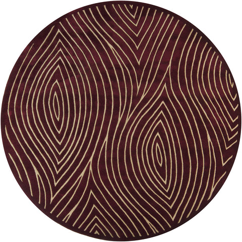 Solas Collection Hand-Tufted Area Rug in Maroon & Cream design by Chandra rugs