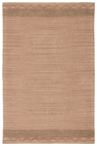 Curran Natural Border Pink/ Tan Rug by Jaipur Living