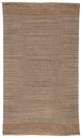 Curran Natural Border Gray/ Tan Rug by Jaipur Living