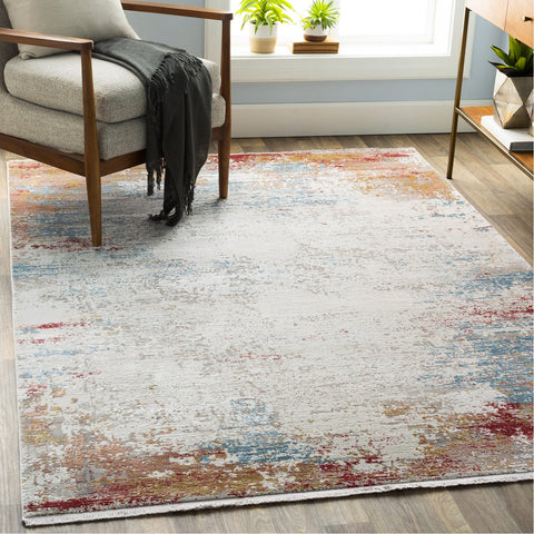 Solar SOR-2303 Rug in Burnt Orange & White by Surya