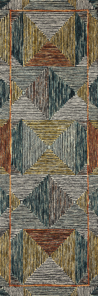 Spectrum Rug in Lagoon / Spice by Loloi II