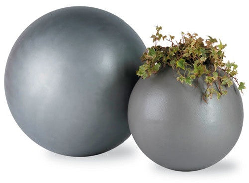 Geo Sphere Planters in Aluminum design by Capital Garden Products