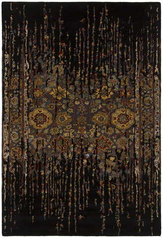 Spring Collection Hand-Tufted Area Rug in Black & Gold design by Chandra rugs