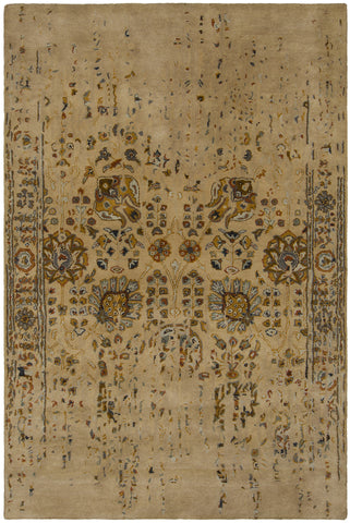 Spring Collection Hand-Tufted Area Rug in Tan & Gold design by Chandra rugs