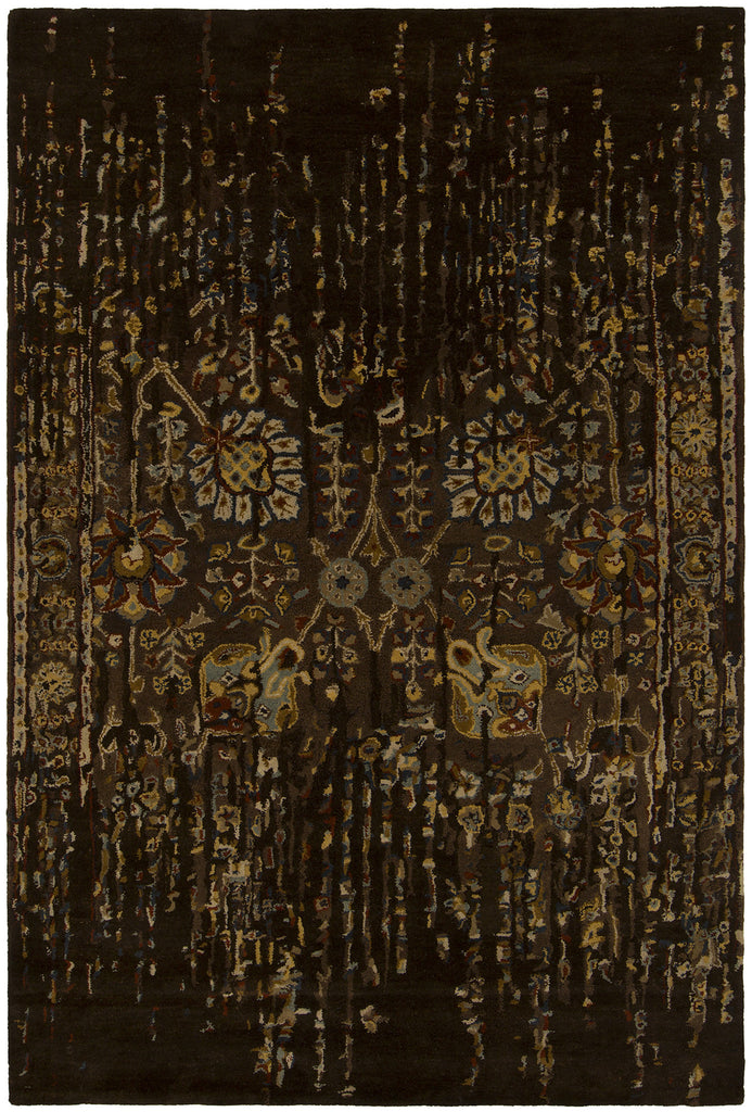 Spring Collection Hand-Tufted Area Rug in Black & Brown design by Chandra rugs
