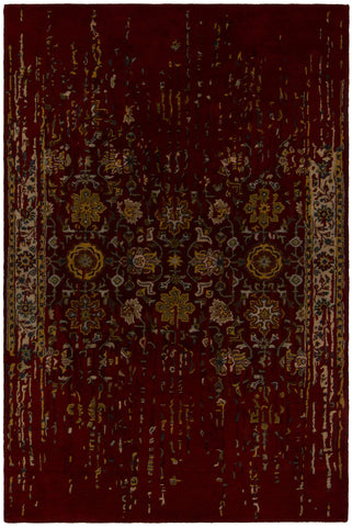 Spring Collection Hand-Tufted Area Rug in Maroon & Gold design by Chandra rugs