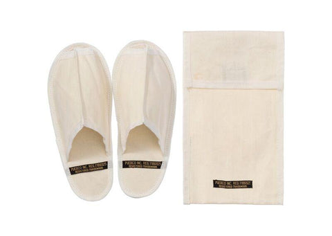 Waxed Canvas Portable Slipper - Small - Off White design by Puebco