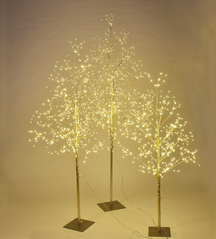 Starlit Tree Gold Set of 3