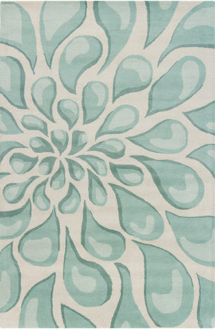 Stella Collection Hand-Tufted Area Rug in Beige & Light Aqua design by Chandra rugs