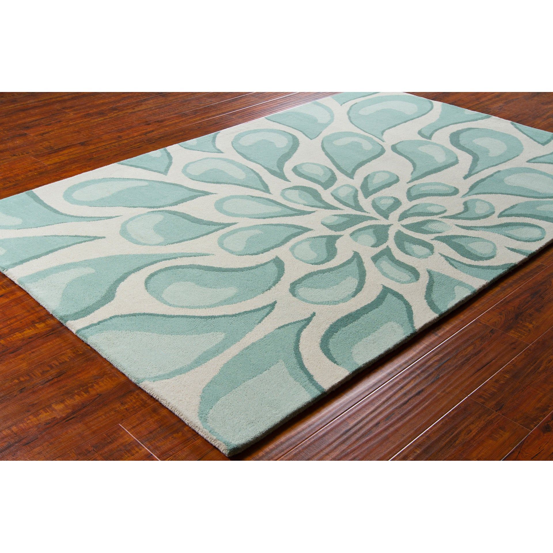 stella collection handtufted area rug in beige u0026 light aqua design by chandra rugs