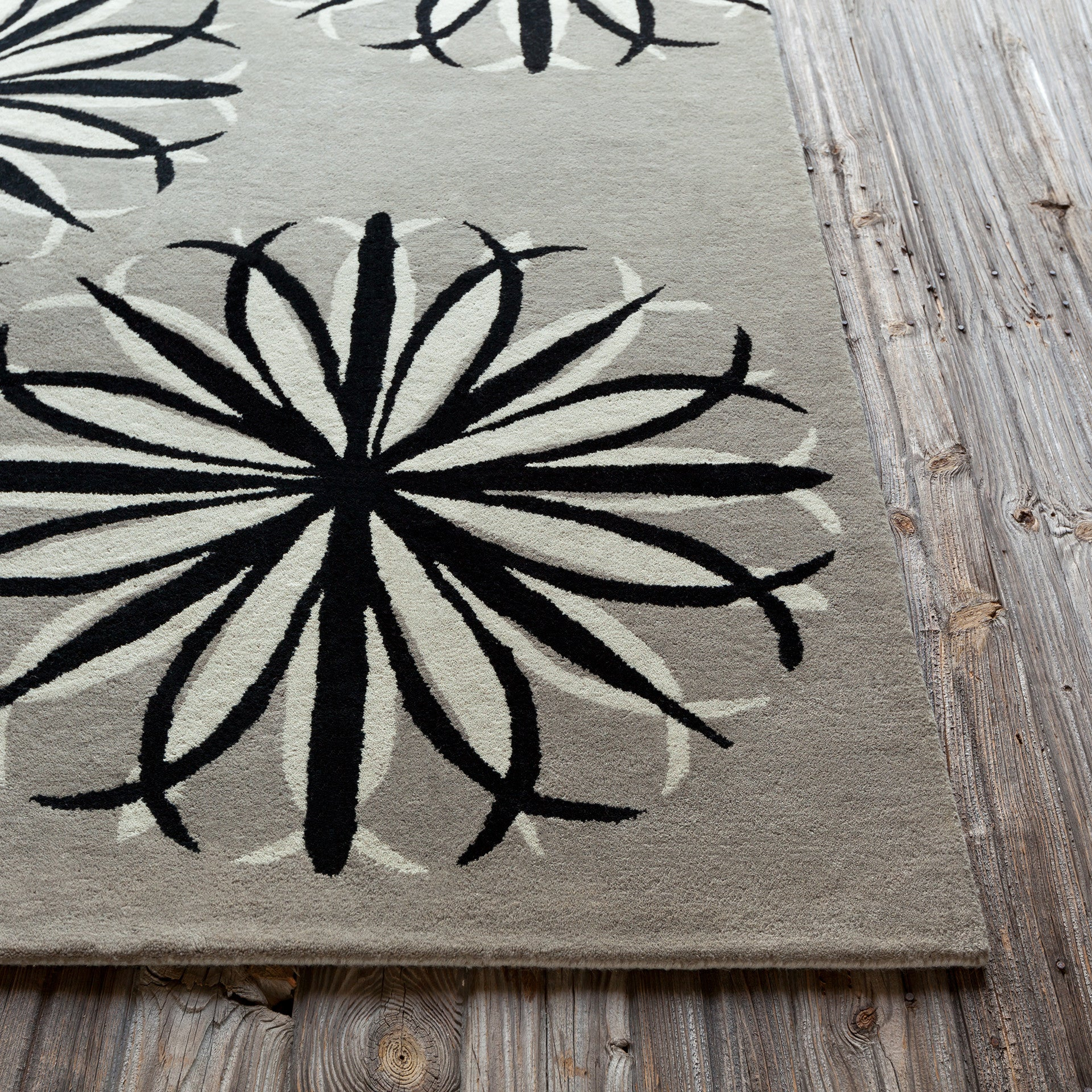 Stella Collection Hand Tufted Area Rug In Beige Light