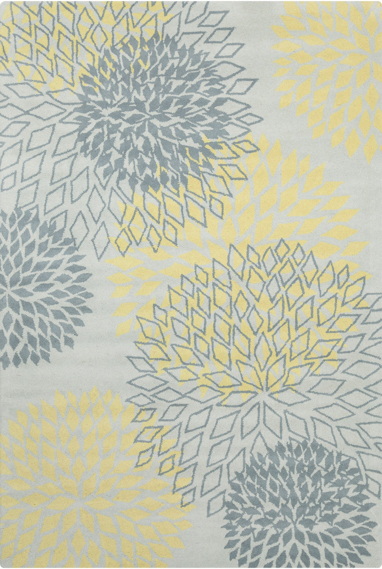 stella collection handtufted area rug in grey u0026 yellow design by chandra rugs