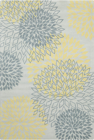 Stella Collection Hand-Tufted Area Rug in Grey & Yellow
