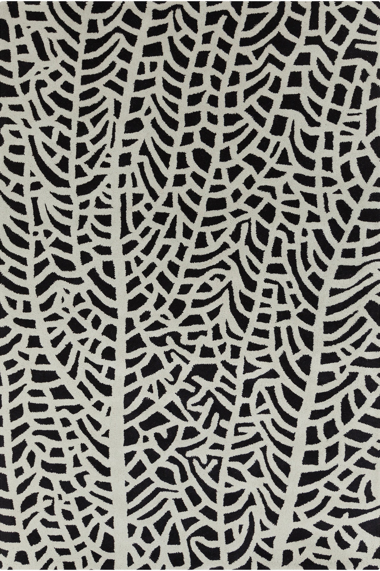 Stella Collection Hand Tufted Area Rug In Black Amp Ivory