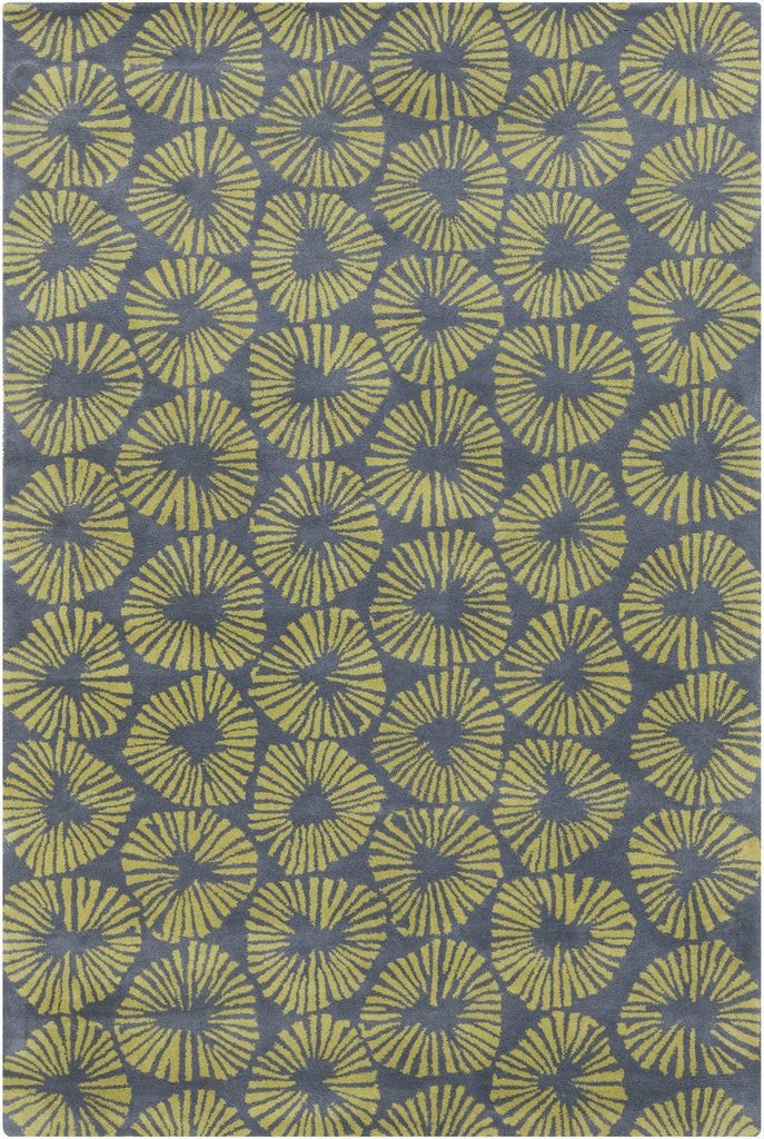 Stella Collection Hand-Tufted Area Rug in Grey & Green design by Chandra rugs
