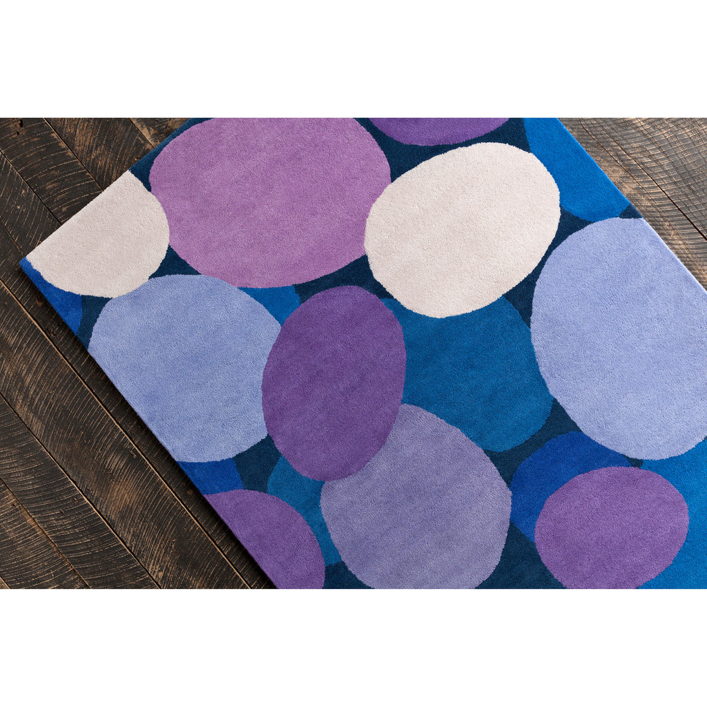 Stella Collection Hand-Tufted Area Rug in Pink & Purple design by Chandra rugs