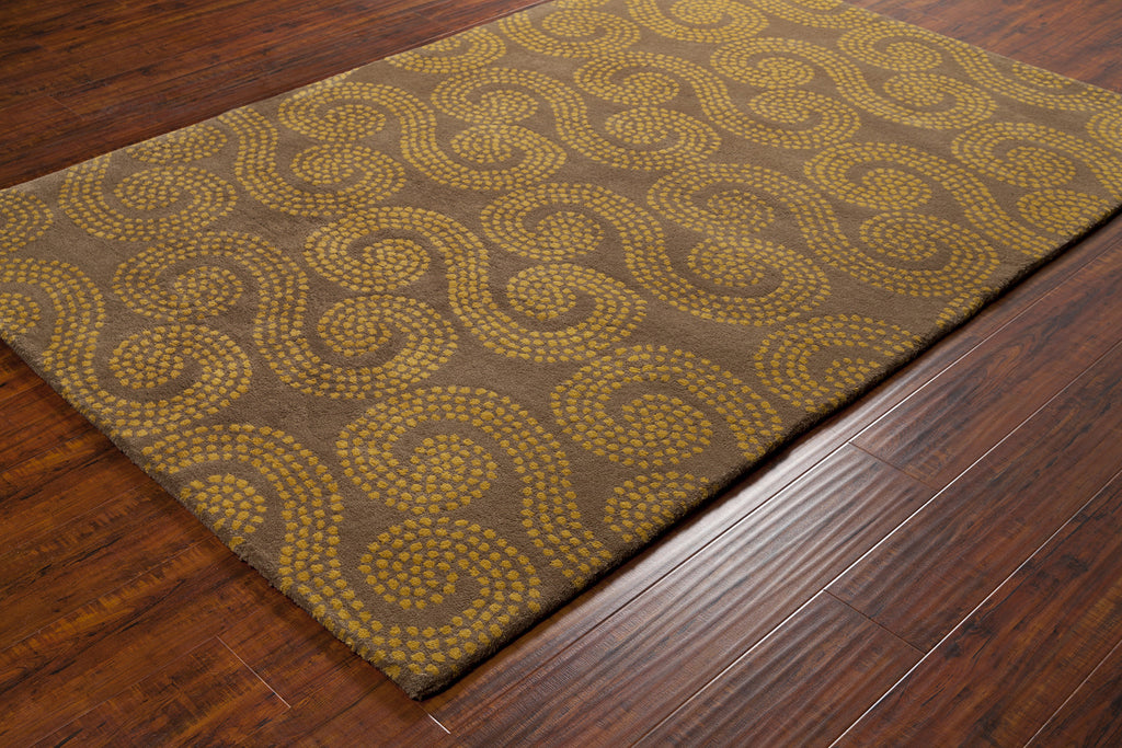 Stella Collection Hand-Tufted Area Rug in Brown & Gold design by Chandra rugs