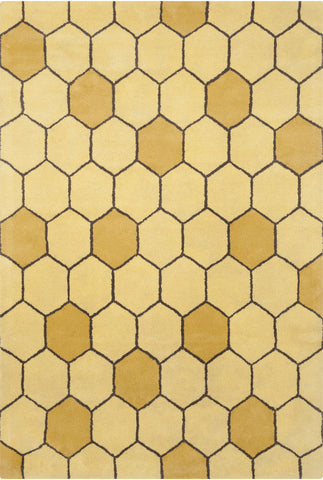 Stella Collection Hand-Tufted Area Rug in Yellow, Brown, & Gold design by Chandra rugs