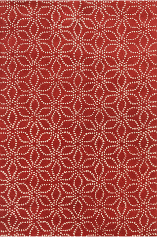 Stella Collection Hand-Tufted Area Rug in Red & White design by Chandra rugs