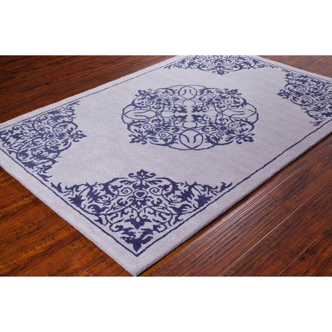 Stella Collection Hand-Tufted Area Rug in Light Grey & Navy design by Chandra rugs
