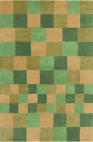Stella Collection Hand-Tufted Area Rug in Green & Gold design by Chandra rugs