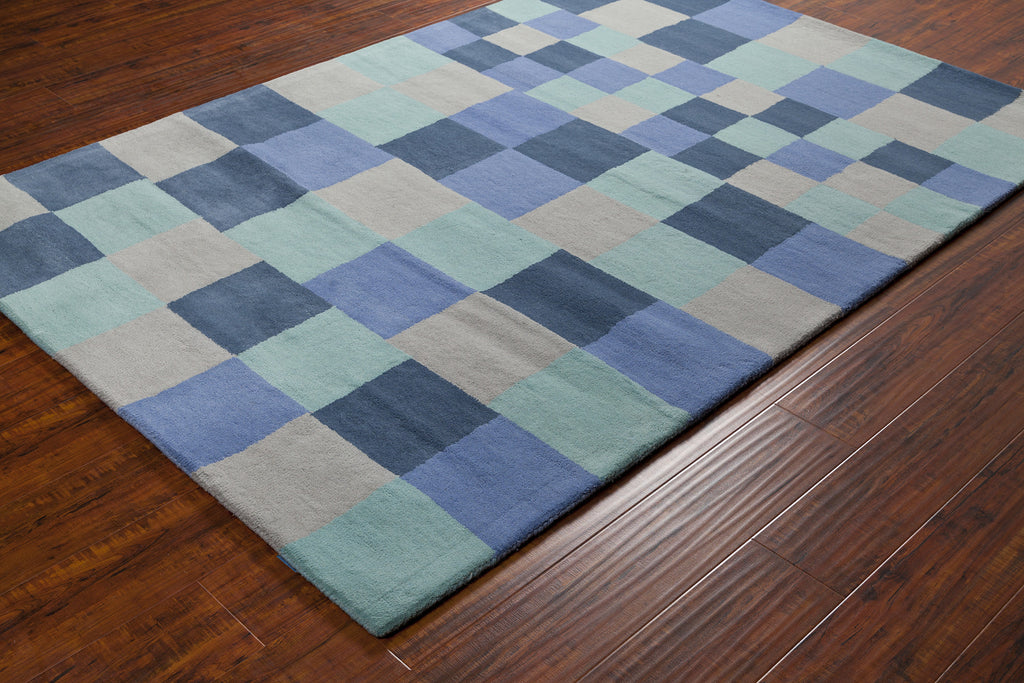 Stella Collection Hand-Tufted Area Rug in Blue & Grey design by Chandra rugs