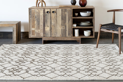 Stella Collection Hand-Tufted Area Rug in Cream & Brown design by Chandra rugs