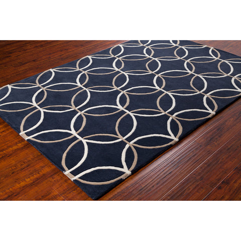 Stella Collection Hand-Tufted Area Rug in Charcoal, Taupe, & Cream design by Chandra rugs