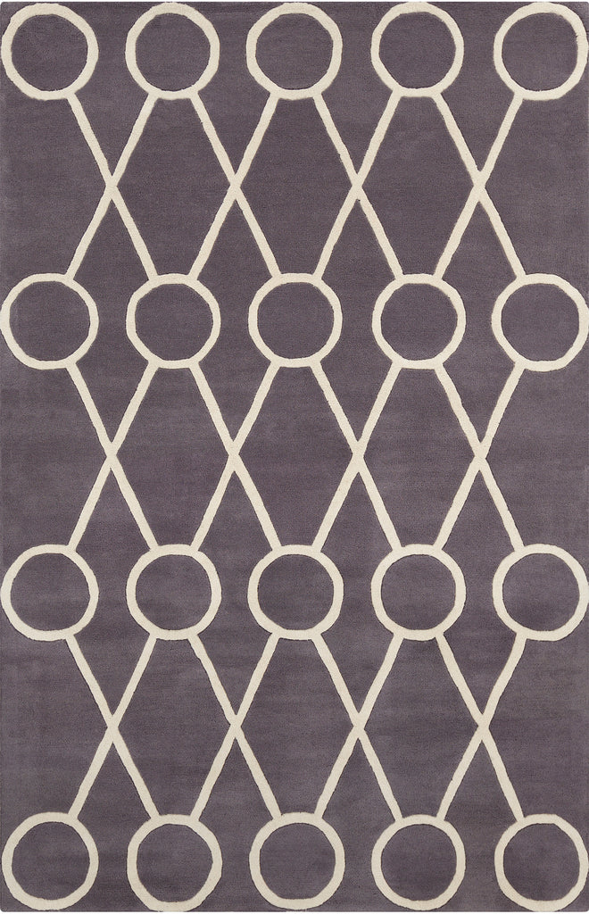 Stella Collection Hand-Tufted Area Rug in Dark Grey & Cream design by Chandra rugs