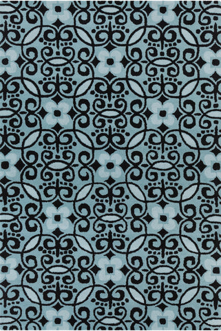 Stella Collection Hand-Tufted Area Rug in Blue & Black design by Chandra rugs