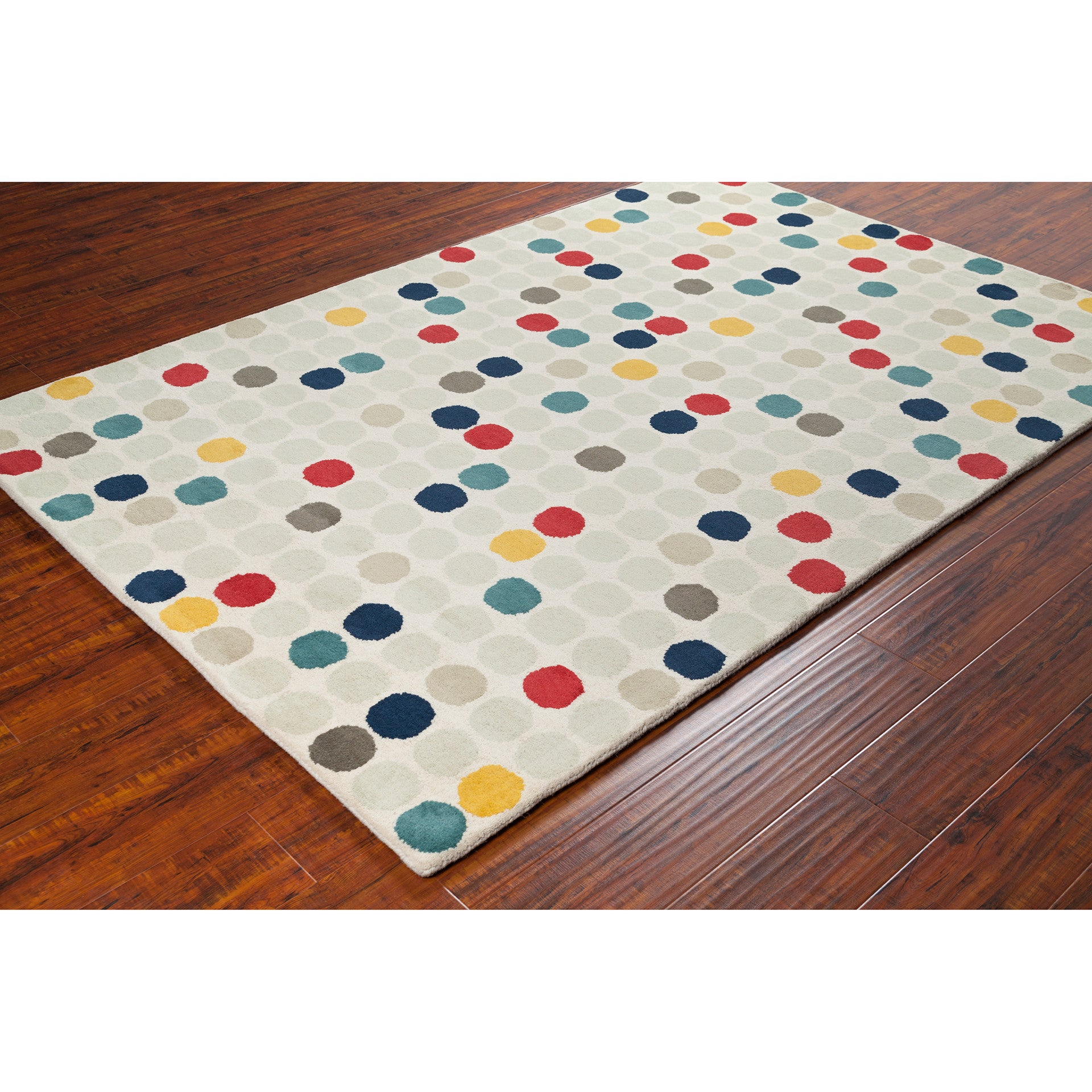 Stella Collection Hand Tufted Area Rug In Beige Light: Stella Collection Hand-Tufted Area Rug In Cream, Red